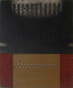 takahikohayashi:    林孝彦 HAYASHI Takahiko 1997The Melting Chain-The Hollow Enclosure60.0 x 49.5cmcopperplate print with chine colle'( etching)