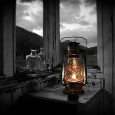 i love lamp. Candle Lanterns, Candles, I Love Lamp, Rustic Lighting, Cabins In The Woods, Mason Jar Lamp, Oil Lamps, Log Homes, Hearth