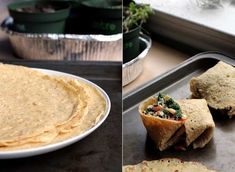 Chickpea Tortillas (vegan, gluten-free). I make these weekly and absolutely love them for many things. I use them as a wrap, crust or just eat them. The spice I use is basil and oregano about a Tbs. each.