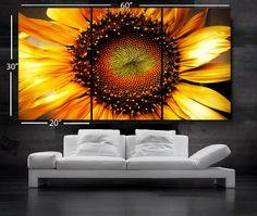 LARGE 30x 60 3 Panels Art Canvas Print beautiful por BoxColors