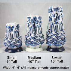 SizeComparisonDG3  Dutch Garden Candle --  hollandhousecandles.com