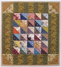 Scrappy Triangles by Barbara Schaffer