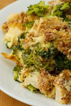 Chicken Divan Casserole with Broccoli & Cheddar Cheese