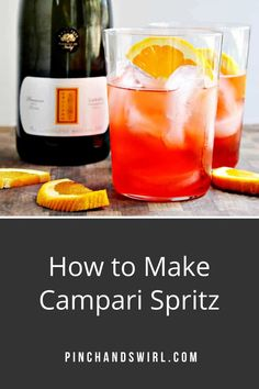 Spritz Cocktails are the ultimate refresher on a hot day and we have Italians to thank for them! They're bright and sweet and bubbly and the right amount of bitter. You can make a spritz cocktail with Campari or Aperol (sweeter). Such a quick and easy recipe for this boozy summer refresher! #spritz #camparispritz #aperolspritz #cocktailrecipe #aperolspritzrecipe #camparispritzrecipe #spritzrecipe Cheap Mixed Drinks, Vodka Mixed Drinks, Easy Summer Meals, Healthy Summer Recipes, Quick Easy Meals, Easy Cocktails, Cocktail Recipes, Real Food Recipes, Great Recipes