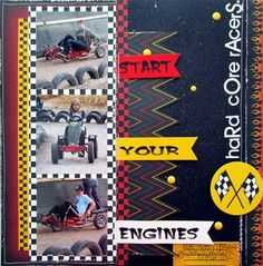 Moxxie  Hardcore Racers lo by Muse Wendi #moxxie #racing #scrapbook