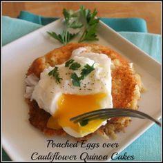 Cauliflower Quinoa Cakes and more quinoa breakfast recipes on MyNaturalFamily.com #quinoa #breakfast #recipe