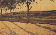 Landscape (Santiago Rusiñol Prats) Color Studies, Illustration, Master Art, Paintings, Colors, Impressionism, Modernism, Santiago, Country Scenes
