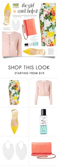 """""""Full Bloom"""" by marina-volaric ❤ liked on Polyvore featuring Melissa McCarthy Seven7, RED Valentino, Jennifer Lopez, NARS Cosmetics, Isabel Marant, Chanel, Clinique, Floralskirts and plus size clothing"""