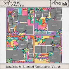 Stacked & Blocked Templates Vol.2 by LDrag Designs