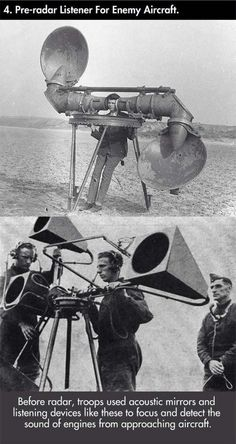 Pre-radar listener for enemy aircraft Inspirational Articles, Product Design, Aircraft, Tech, Aviation, Planes, Technology, Airplane, Airplanes