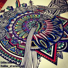 MESSY MIND - #zentangle #doodle #drawing #moleskine #illustration #sketchbook #artwork #mandala #artpiece #sketching #sketches #notebook #zendoodle #creative #ink #doodling #artstag #pattern #sketchpad #pencil #doodleart #zenart #zendoodle #zentangleart #mandalaart #colors