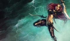 Katarina League of Legends Splash Art