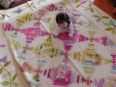 A Little Bit Biased: Pineapple Quilt [Finished] Star Quilts, Scrappy Quilts, Baby Quilts, Quilt Blocks, Pineapple Quilt Pattern, Log Cabin Quilts, Log Cabins, Sewing Machine Quilting, String Quilts