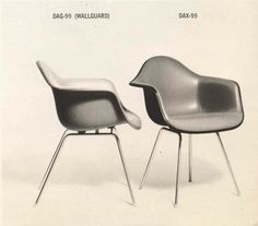 Authentic, vintage #Eames DAG (wall guard) fiberglass chairs by @hermanmiller