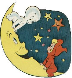 Casper & Wendy are characters from Harvey Comics