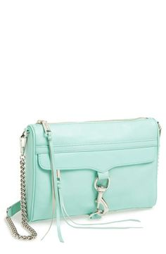 Hint of mint! Rebecca Minkoff M.A.C. Clutch crossbody bag.