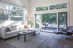Spacious and airy living room at The Ridge in Nanaimo.