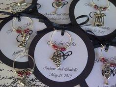 personalized rehearsal dinner favors | Themed Wine Charm Favors - Weddings, Bridal Shower, Rehearsal Dinner ...