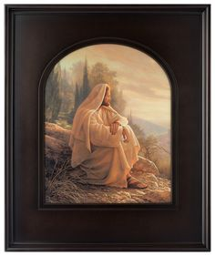 Alpha and Omega (30x25 Arched Framed Print)  Framed in this solid wood stained arched frame, this classic print of Alpha and Omega is one of the most stunning presentations of this image we've ever shared.
