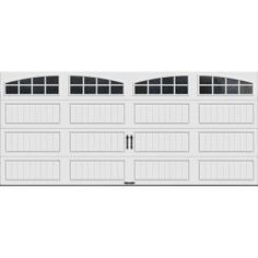 Clopay Gallery Collection 16 Ft. X 7 Ft. 18.4 R Value Intellicore Insulated  White Garage Door With Arch Window