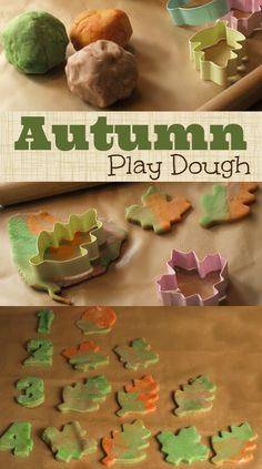 Autumn Leaves Play Dough - Here Come the Girls