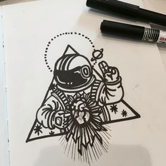 By Chen pin #Outerspace #astronaut #chenpin #tatoo