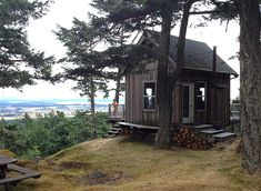 Off grid cabin on San Juan Island, Washington State. Submitted by Jennifer Morris. (cabin porn)