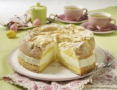 Zitronencreme-Torte mit Baiserhaube Rezept   LECKER