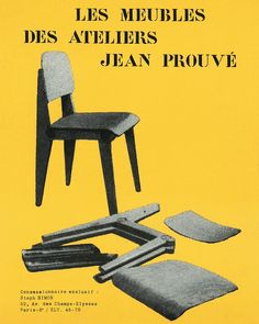 Les Meubles des Ateliers Jean Prouvé #jeanprouvé #jeanprouve #prouvé #prouve #demountable #chair #historic #furniture #design #midcentury #french #modern #galeriepatrickseguin #paris #london More on https://www.patrickseguin.com/en/designers/furniture-jean-prouve/available-pieces-furniture-jean-prouve/