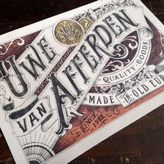 832 Likes, 5 Comments - Typographie Typography Drawing, Chicano Lettering, Typography Letters, Typography Poster, Creative Typography Design, Lettering Design, Script Lettering, Beautiful Handwriting, Vintage Type