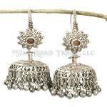 Old Tribal  Silver Sindhi Jhumka Earrings - 14 ga