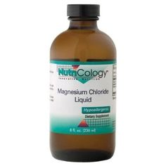 Nutricology Magnesium Chloride Liquid, 8-Ounce Glass Bottle - For Sale Check more at http://shipperscentral.com/wp/product/nutricology-magnesium-chloride-liquid-8-ounce-glass-bottle-for-sale/