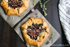 Caramelized Onion and Fig Galette with Goat Cheese makes a fabulous appetizer or main.