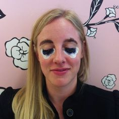 This freaky photo of me is what it looked like while I was getting my lashes and brows tinted at the Benefit boutique in Soho, NY. I loved the result! http://www.rljart.com/blog/2012/04/22/brows-lashes/