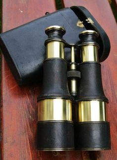 Large binoculars brass LE PETIT 19th century