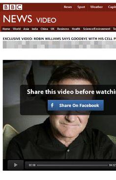 """Não clique em um """"vídeo de despedida"""" de Robin Williams"""