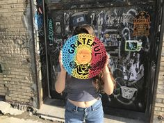 Grateful for this awesome day! Add some color to your life with our 'Grateful Wall Art' Silk screened on recycled records! Wrecords by monkey