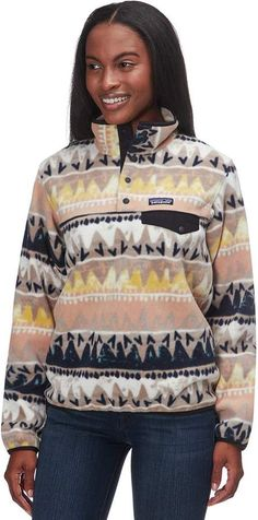 Patagonia Synchilla Lightweight Snap-T Fleece Pullover - Women's Patagonia Pullover, Patagonia Synchilla, Patagonia Outfit, Ugly Sweater, North Face Jacket, Warm And Cozy, Casual, How To Wear