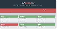 Some Web sites make it difficult to figure out how to delete your accounts. JustDelete.me can save you time by providing direct links to the cancellation pages of numerous Internet sites. Read this article by Ed Rhee on CNET. via @CNET