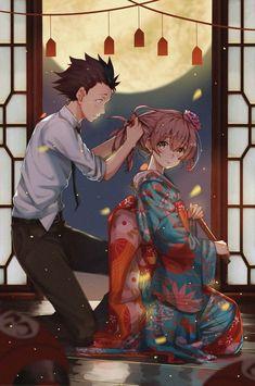 / Koe no Katachi // A Silent Voice // Shouko Nishimiya // Shouya Ishida Anime Love, Kyoani Anime, Fanarts Anime, Anime Films, Anime Characters, Manga A Silent Voice, Humour Geek, Couple Manga, The Garden Of Words