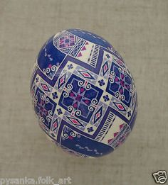 "Ukraine Pysanka by Oleh K Chicken Easter Egg Height 2 12"" in Pysanky 