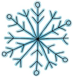 how to draw a snowflake step by step