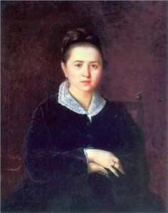 """""""Portrait of an Unknown Woman"""", 1875, by Vasily Perov (Russian, 1834-1882)"""