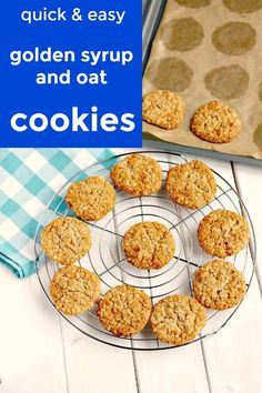 Syrup cookies just out of the oven Oat Cookie Recipe, Easy Cookie Recipes, Brownie Recipes, Baking Recipes, Sweet Recipes, Chocolate Peanut Butter Fudge, Chewy Peanut Butter Cookies, Oat Cookies, Sugar Cookies