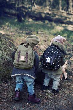 Stoere mini rugzak voor jonge kinderen.