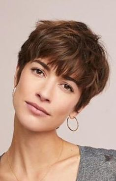 46 Trendy Ideas For Haircut Bob Pixie Messy Hairstyles, Pretty Hairstyles, Androgynous Haircut, Cut My Hair, Short Hair Cuts For Women, Great Hair, Hair Today, Hair Inspiration, Curly Hair Styles