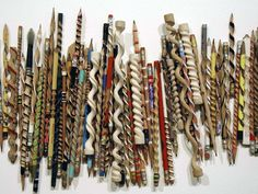 Amsterdam-based artist Peter Schuyff creates these amazing pencil carvings