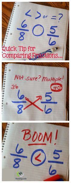 Love this genius tip for comparing fractions.