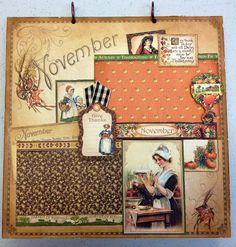 Paperiah: Graphic 45 Place In Time Calendar Album Class 12/13