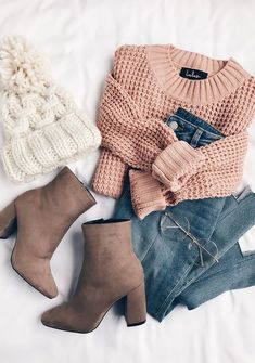 Here is Pink Sweater Outfit Idea for you. Pink Sweater Outfit how to wear outfits with asos pink sweaters chicisimo. Cute Winter Outfits, Trendy Outfits, Fall Outfits, Summer Outfits, Fashion Outfits, Womens Fashion, Fashion Flatlay, Winter Ootd, Casual Winter